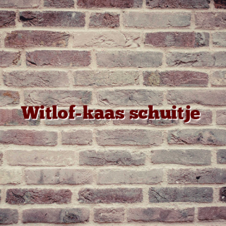 Witlof-kaas schuitje