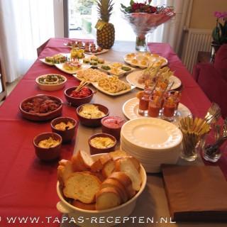 Tapas-buffet voor verjaardagsfeestje